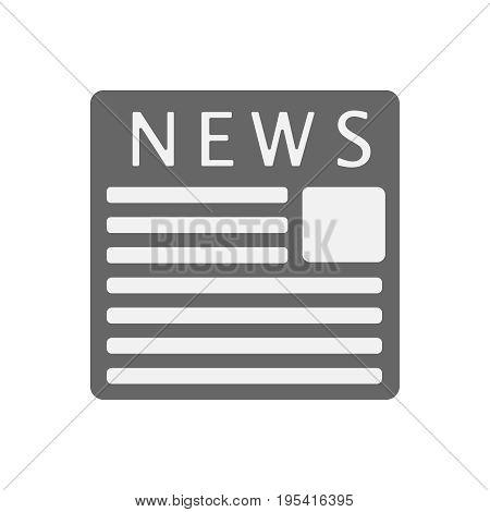 newspaper icon. illustration flat vector EPS 10