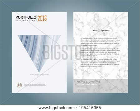 Creative cover design layout template, Marble texture background, Inspiration for your design to brochure, annual report, flyer, magazine, poster, corporate presentation, portfolio, banner, website.