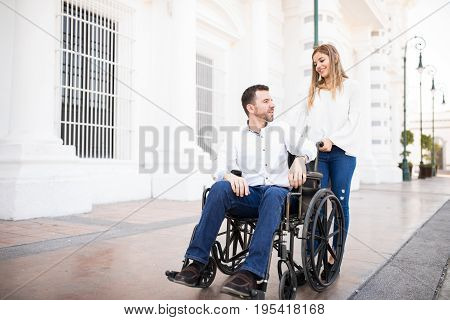 Man And Girlfriend On A Date In The City