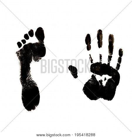 Human Foot End Hand Prints Identification Biometrics Ink