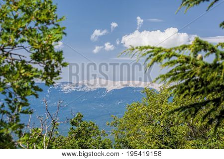 View of Mont Ventoux in Provence France
