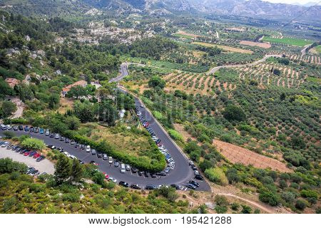 Roads between fields in famous Provence France