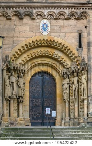 Adamspforte portal of Bamberg cathedral шт Germany