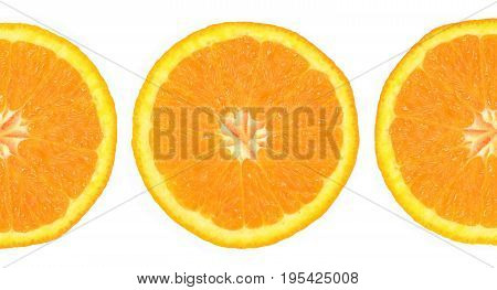 orange on white background photo close up