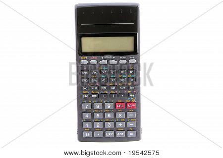 calculator isolated on white (vertical)