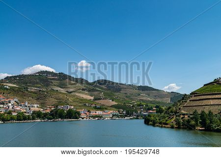 Point Of View Shot Of Terraced Vineyards In Douro Valley