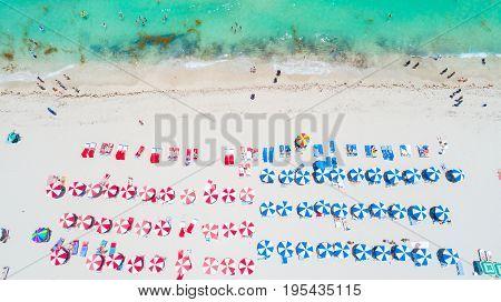 Aerial view of South Beach, Miami Beach, Florida. USA.