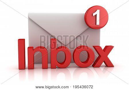 Inbox Concept With Envelope