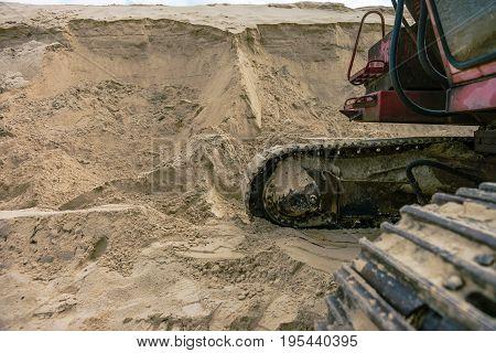 Sand quarry sand pit digger summer light
