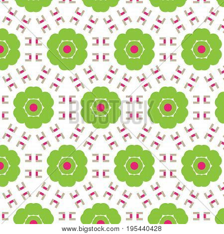 Abstract seamless pattern of a circular form of green color.Background for broad application with a possibility of change.Vector illustration.