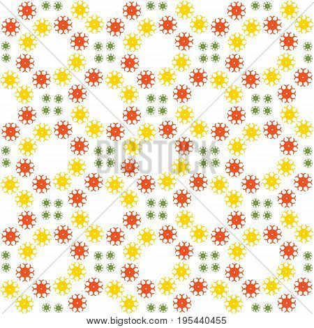 Abstract seamless pattern of a circular form of yellow green color.Background for broad application with a possibility of change.Vector illustration.