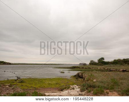 A Coastal Landscape Sea Overcast And Empty