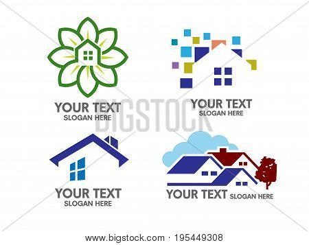 elegant concept of Real Estate home and property Logo Set