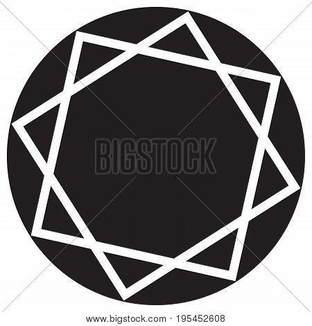 Diamond flat icon gemstone