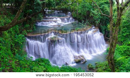 Waterfall in Thailand waterfall is beautiful do not lose any.