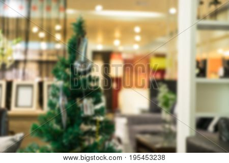 abstract blur of decoration store for sale - can use to display or montage on product