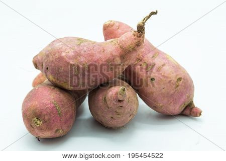 Potato on white background Sweet potato isolated