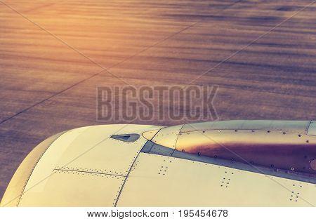Jet Plane Engine With Run Way.