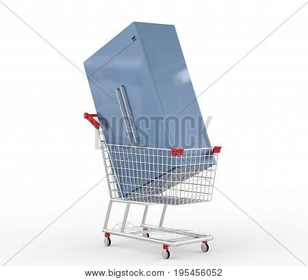Refrigerator In Shopping Cart