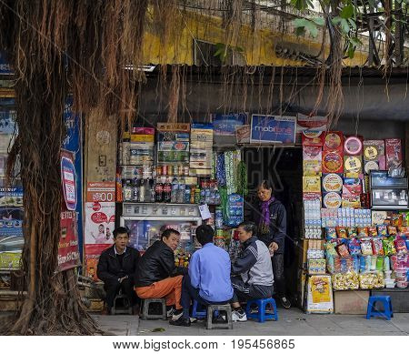 Vietnamese Street Market Lady Seller