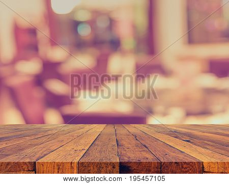 Blur Dinning Table Set For Background Usage.