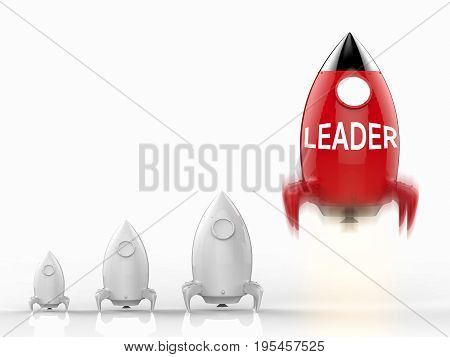 Leadership Concept With Rocket