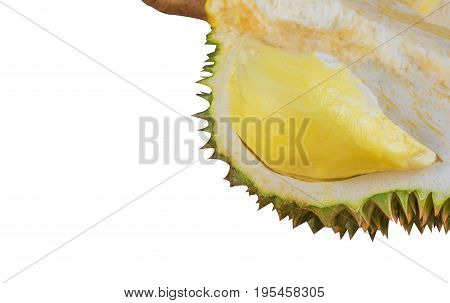 Ripe Durian Isolated On White Background.