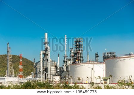 Oil refinery plant, Oil and Gas industrial