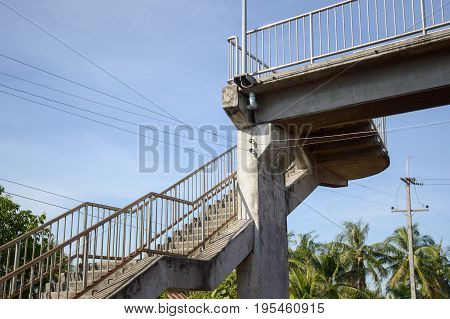 close up overpass in country Chachoengsao Thailand