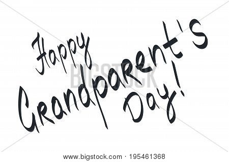 Lettering for gift card Happy Grandparent's Day.