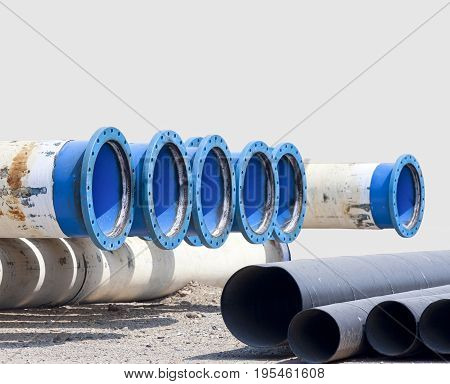 Metal pipe for water city supply .