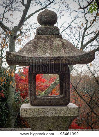 A Stone Lantern At Kiyomizu-dera Shrine