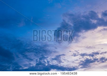 image of blue sky and white clouds on day time for background usage.(horizontal)