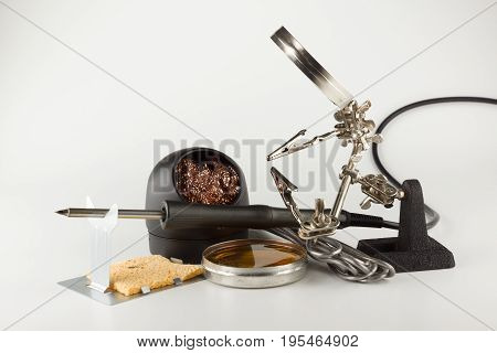 Set for processing and soldering electronic circuits poster