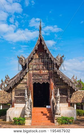Old Temple Made From Wood.