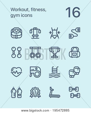 Outline Workout, fitness, gym icons for web and mobile design pack 2