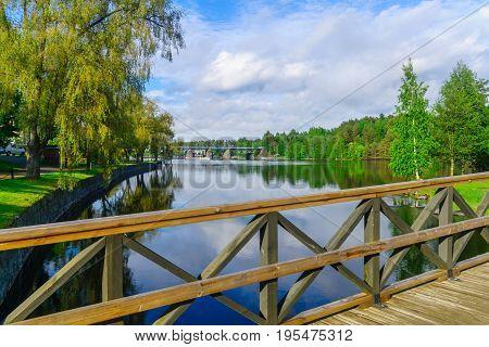 View Of A Train Bridge In Savonlinna