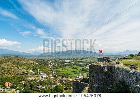 View Near Shkodar City From Rozafa Castle, Albania