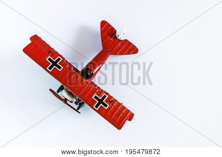 Red Baron and the triplane airplane toy