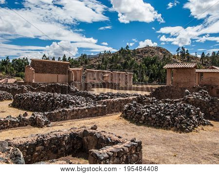 Raqchi Temple of Wiracocha archeological site Peru