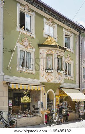 Historic Building In Garmisch, Germany, Editorial