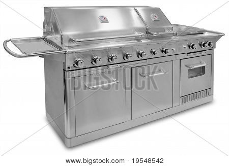 Big barbecue grill, isolated