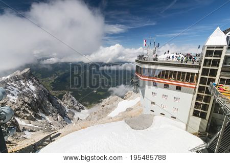 Tyrolean Zugspitze Cable Car Mountain Station, Editorial