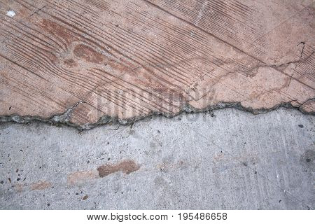 textured background of unfinished clay plaster v