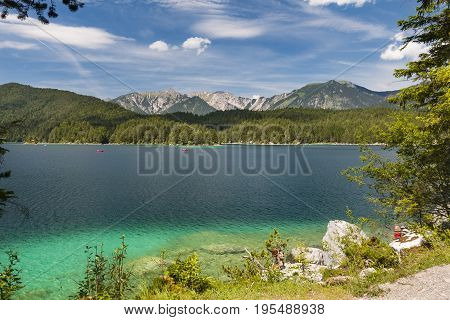 Boats On Lake Eibsee, Germany