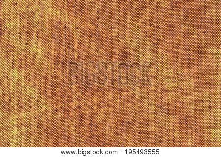 Rusty beige scratchy damaged a burlap canvas background