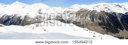 View At Mount Gotthard Over Airolo