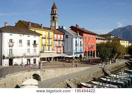 The Waterfront Of Ascona On Switzerland