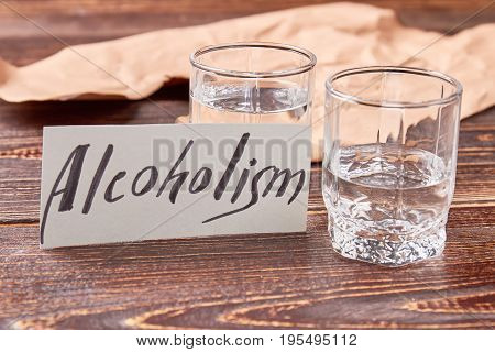 Alcohol dependence concept. Harmful habit to drink alcohol leads to problems with health.