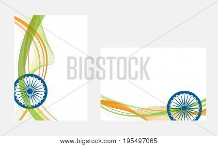 Happy Indian Independence Day celebration on flag color greeting card EPS10.